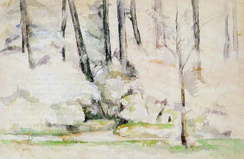 Paul Cezanne Into the Woods - Hand Painted Oil Painting