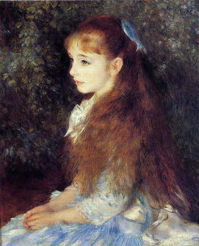 Pierre Auguste Renoir Irene Cahen d'Anvers (also known as Little Irene) - Hand Painted Oil Painting