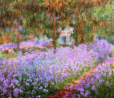 Claude Oscar Monet Irises in Monet's Garden - Hand Painted Oil Painting