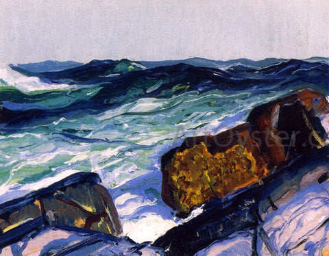 George Wesley Bellows Iron Coast, Monhegan - Hand Painted Oil Painting