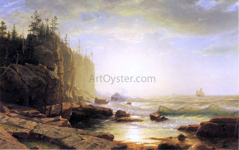 William Stanley Haseltine Iron-Bound, Coast of Maine - Hand Painted Oil Painting
