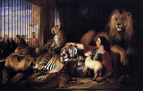 Sir Edwin Henry Landseer Isaac van Amburgh and his Animals - Hand Painted Oil Painting