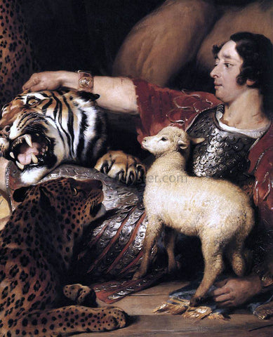 Sir Edwin Henry Landseer Isaac van Amburgh and his Animals (detail) - Hand Painted Oil Painting