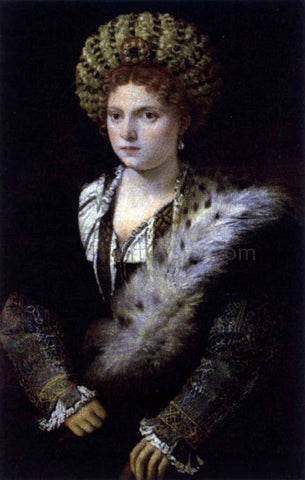 Titian Isabella d'Este, Duchess of Mantua - Hand Painted Oil Painting