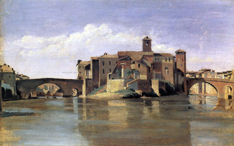 Jean-Baptiste-Camille Corot Island of San Bartolommeo - Hand Painted Oil Painting