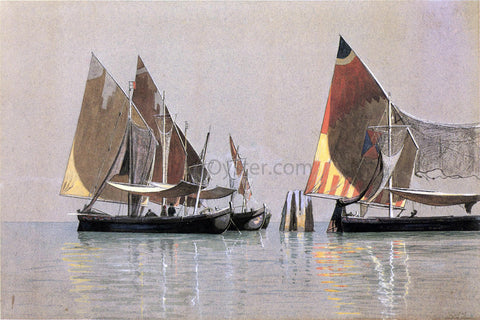 William Stanley Haseltine Italian Boats, Venice - Hand Painted Oil Painting