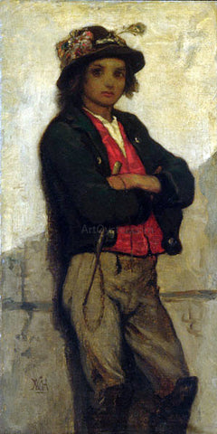 William Morris Hunt Italian Boy - Hand Painted Oil Painting