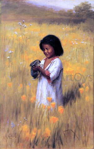 Grace Carpenter Hudson Jack Rabbit (Shi-Ko-Da) - Hand Painted Oil Painting