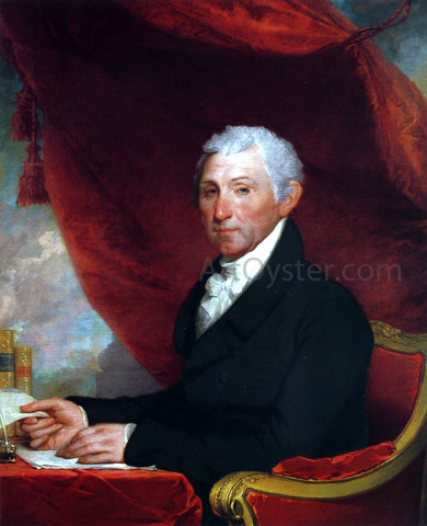Gilbert Stuart James Monroe - Hand Painted Oil Painting