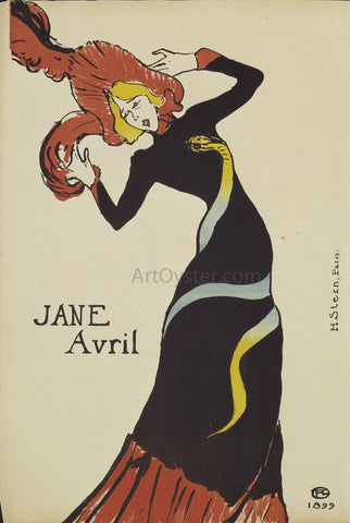 Henri De Toulouse-Lautrec Jane Avril - Hand Painted Oil Painting