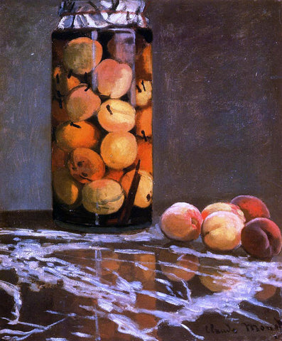 Claude Oscar Monet Jar of Peaches - Hand Painted Oil Painting