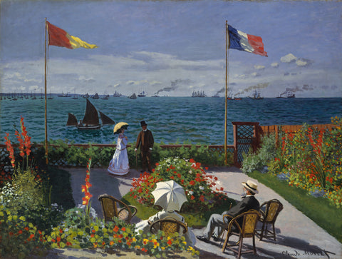 Claude Oscar Monet Jardin a Sainte-Adresse - Hand Painted Oil Painting