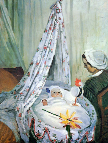Claude Oscar Monet Jean Monet in His Cradle - Hand Painted Oil Painting