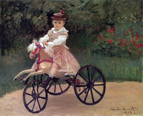 Claude Oscar Monet Jean Monet on His Horse Tricycle - Hand Painted Oil Painting