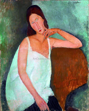 Amedeo Modigliani Jeanne Hebuterne - Hand Painted Oil Painting