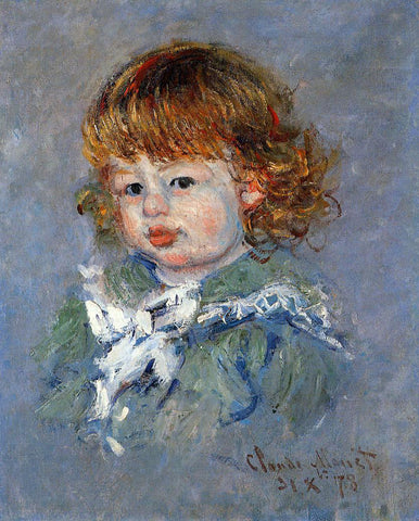 Claude Oscar Monet Jean-Pierre Hoschede, called 'Bebe Jean' - Hand Painted Oil Painting