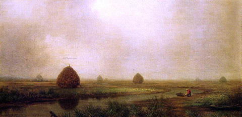 Martin Johnson Heade Jersey Marshes - Hand Painted Oil Painting