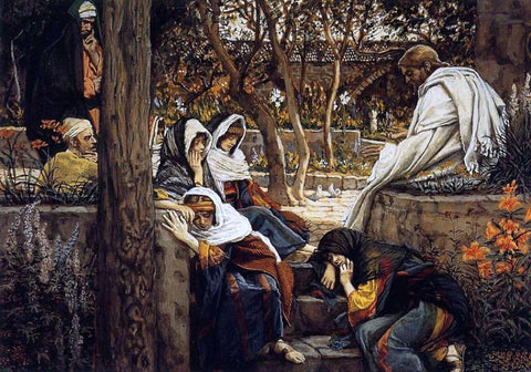 James Tissot Jesus at Bethany - Hand Painted Oil Painting