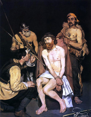 Edouard Manet Jesus Mocked by the Soldiers - Hand Painted Oil Painting