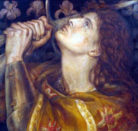 Dante Gabriel Rossetti Joan of Arc - Hand Painted Oil Painting