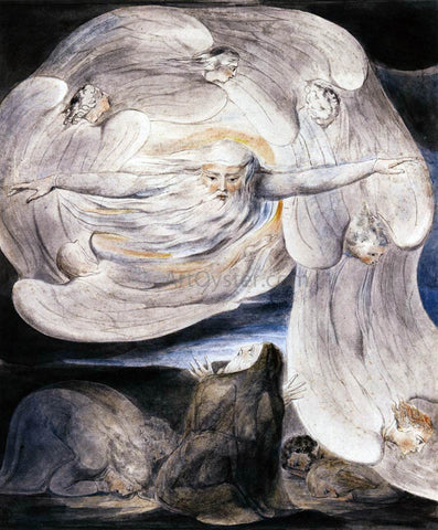 William Blake Job Confessing his Presumption to God who Answers from the Whirlwind - Hand Painted Oil Painting