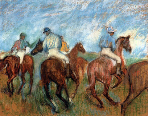 Edgar Degas Jockeys - Hand Painted Oil Painting