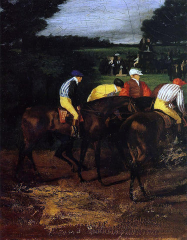 Edgar Degas Jockeys at Epsom - Hand Painted Oil Painting