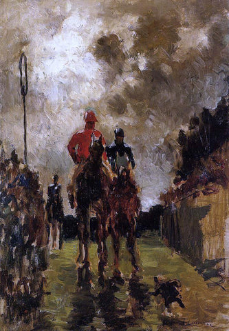 Henri De Toulouse-Lautrec Jockeys - Hand Painted Oil Painting