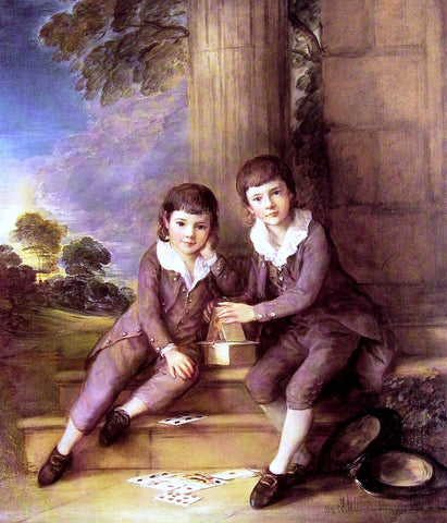 Thomas Gainsborough John and Henry Trueman Villebois - Hand Painted Oil Painting