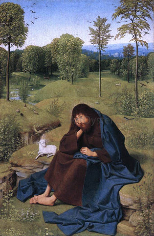 Geertgen Sint Jans John the Baptist in the Wilderness - Hand Painted Oil Painting