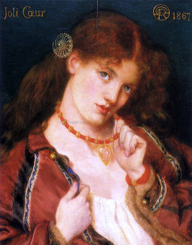 Dante Gabriel Rossetti Joli Coeur (also known as French for) - Hand Painted Oil Painting