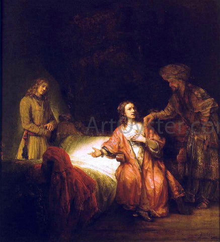 Rembrandt Van Rijn Joseph Accused by Potiphar's Wife - Hand Painted Oil Painting
