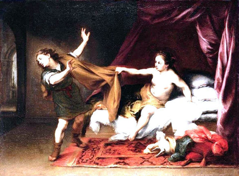 Bartolome Esteban Murillo Joseph and Potiphar's Wife - Hand Painted Oil Painting