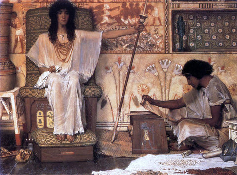 Sir Lawrence Alma-Tadema Joseph, Overseer of Pharaoh's Graneries - Hand Painted Oil Painting