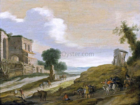 Lambert Jacobsz Joseph's Brothers on the Road from Egypt - Hand Painted Oil Painting