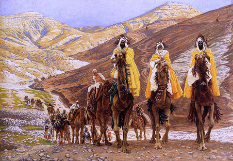 James Tissot Journey of the Magi - Hand Painted Oil Painting