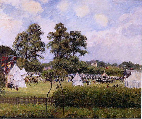 Camille Pissarro Jubilie Celebration at Bedford Park, London - Hand Painted Oil Painting