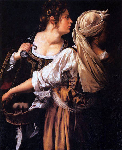 Artemisia Gentileschi Judith and Her Maidservant - Hand Painted Oil Painting