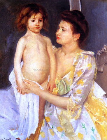 Mary Cassatt Jules Being Dried by His Mother - Hand Painted Oil Painting