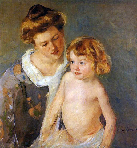Mary Cassatt Jules Standing by His Mother - Hand Painted Oil Painting