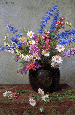 Gari Melchers July Flowers - Hand Painted Oil Painting
