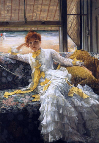 James Tissot July: Specimen of a Portrait - Hand Painted Oil Painting