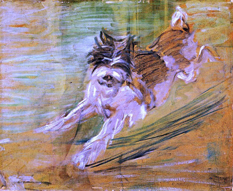 "Franz Marc Jumping Dog ""Schlick"" - Hand Painted Oil Painting"