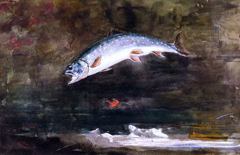 Winslow Homer Jumping Trout - Hand Painted Oil Painting