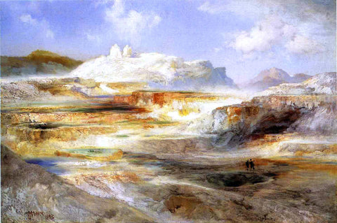 Thomas Moran Jupiter Terrace, Yellowstone - Hand Painted Oil Painting