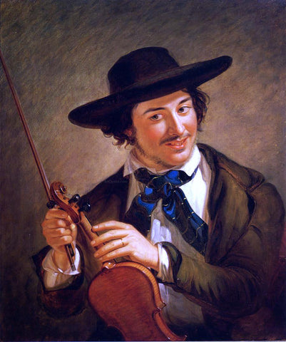 William Sidney Mount Just in Tune - Hand Painted Oil Painting