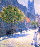 Frederick Childe Hassam Just Off the Avenue, Fifty-Third Street, May, 1916 - Hand Painted Oil Painting