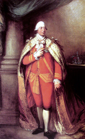Thomas Gainsborough King George III - Hand Painted Oil Painting