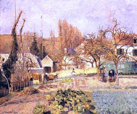 Camille Pissarro Kitchen Garden at the Hermitage, Pontoise - Hand Painted Oil Painting