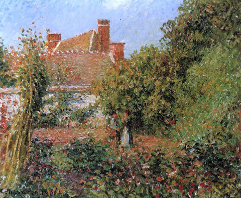 Camille Pissarro Kitchen Garden in Eragny, Afternoon - Hand Painted Oil Painting